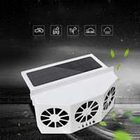 Car Solar Powered Exhaust Ventilator 3 Cooler Fans Solar powered Cooling Vent Exhaust Portable Safe Auto Fan High power 3 Colors