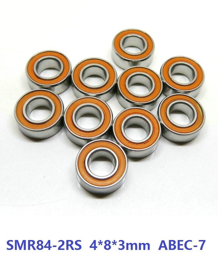 6 pièces ou 10 pièces SMR84-2RS SMR84RS 4x8x3mm ABEC7 acier inoxydable hybride Si3n4 roulement en céramique pour pêche bobine roulements 4*8*3