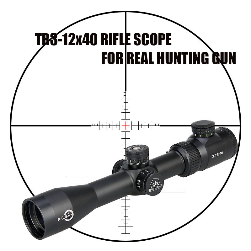New Canislatrans Tactical Military 3-12X TR3-12x40 Spotting Rifle Scope For CS Game Real Hunting Shooting CL1-0286 promiton new arrival tactical 3 9x50 rifle scope for hunting shooting cl1 0277
