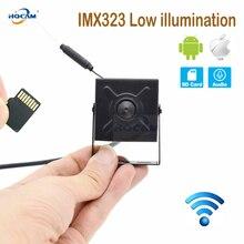 Hqcam camhi imx323 baixo illumination1080p áudio mini câmera ip wi fi sem fio indoor cctv segurança onvif tf slot para cartão