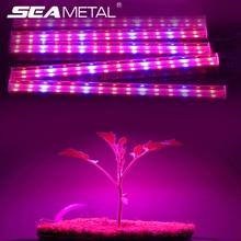 5 шт. Светодиодная лампа для выращивания растений 6 Вт, полноспектральная фитолампа, светодиодная лампа для рассады, Тепличный цветок для выращивания растений в помещении