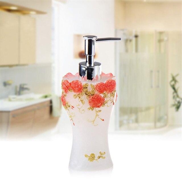Bathroom Jar aliexpress : buy bathroom soap dispenser set vintage rose