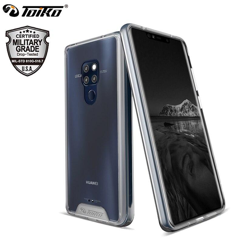 TOIKO Chiron Antiurto Trasparente Custodie per Huawei Compagno di 20 Hybrid PC TPU Del Respingente Compagno di 20 Pro Posteriore Della Copertura Compagno di 20 lite Protettiva Borsette