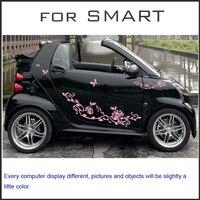 Gratis verzending lotus bloem romantische grafische vinyl voor voor smart smart voor twee
