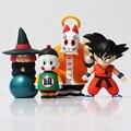 Dragon Ball Z Goku Sun Maestro Roshi PVC Figura de Acción de Colección Modelo de Juguete 4 unids/set 10-15 cm Libre gratis