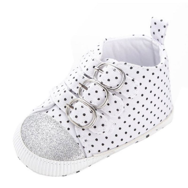 New Spring Autumn Canvas Infant Toddler Boy Baby Kids First Walkers Polka Dots Sports Sneaker High Top Shoes