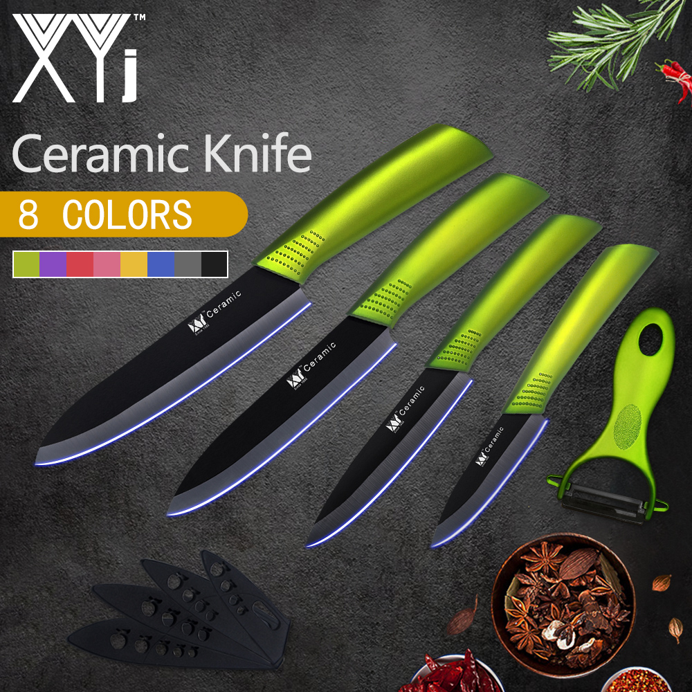 XYj Kitchen Knives New Arrival Paring Utility Slicing Chef Ceramic Knife Fruit Veg Meat Sushi Fish Sashim Cooking Tools + Peeler