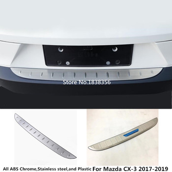 For Mazda CX-3 CX3 2017 2018 2019 car styling external rear bumper Protection trunk trim cover Stainless Steel plate pedal 1pcs