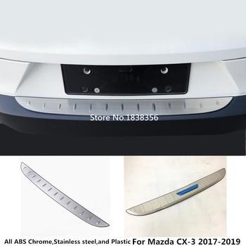 Voor Mazda CX-3 CX3 2017 2018 2019 auto styling externe achterbumper Bescherming kofferbak trim cover Rvs plaat pedaal 1 pcs