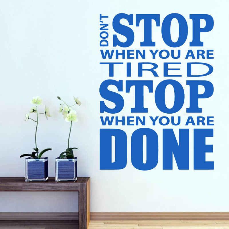 Durdurma spor salonu Fitness vinil duvar çıkartmaları çıkartmaları spor motivasyon posterleri sıcak satış duvar kağıdı çıkarılabilir çıkartmaları Art Deco WL45