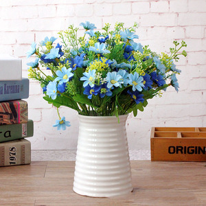 Image 3 - 1 Bunch 28 Head Cineraria Artificial Flower Bouquet Home Office Decor silk daisy artificial decorative indoor outdoor A12150