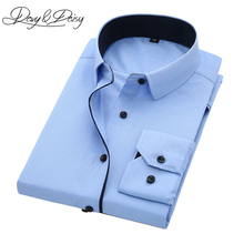 COODRONY Spring Summer Business Casual Short Sleeve Shirt With Pocket Pure Cotton Men