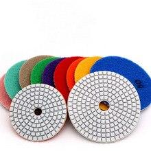 """4 """"100mm 80mm elmas ıslak parlatma pedleri elmas parlatma diskleri granit mermer beton taş parlatma taşlama diskleri takım"""