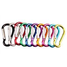 20Pcs Random Color Aluminum Alloy Carabiner Outdoor Hanging Buckle Water Bottle Bag Buckle
