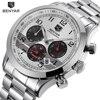 BENYAR Stainless Steel Waterproof Chronograph Watches Quartz Military Men Watch Top Brand Luxury Male Sport Clock
