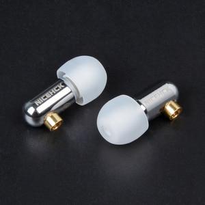 Image 4 - 2019 NICEHCK DT100 Single BA Drive In Ear Earphone Single Balanced Armature Detachable Detach MMCX Cable HIFI Metal Earphone