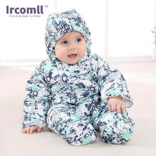Ircomll Autumn Winter Baby Warm Rompers Infant Cotton