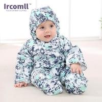 2017 Autumn Winter Baby Warm Rompers Infant Cotton Thicken Outerwear Newborn Jumpsuit Boys Girl Wear Coat