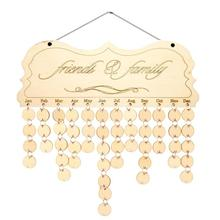 DIY Fashion Wooden Birthday Calendar Family Friends Sign Special Dates Planner Board Hanging Decor Gift Decorate Your Home