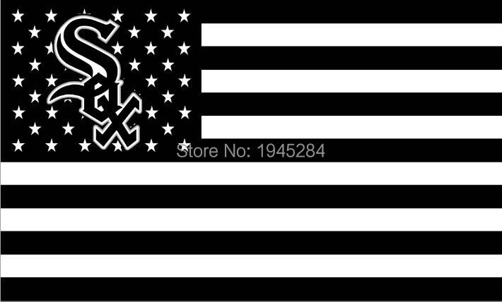 MLB Chicago White Sox with US Stars Stripes Flag Banner New 3x5ft 90x150cm Polyester 8806, free shipping