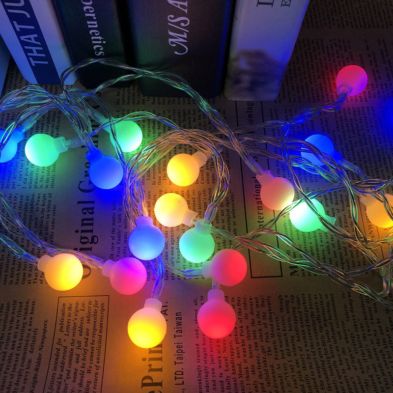 5M 40 LED Balls Globes Fairy LED String Light Bulbs Multicolor Party Wedding Christmas Garden Outdoor Holiday Decor 220V EU Plug