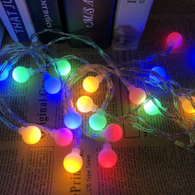 5M 40 LED Balls Globes Fairy String Light Bulbs Multicolor Party Wedding Christmas Garden Outdoor Holiday Decor 220V EU Plug