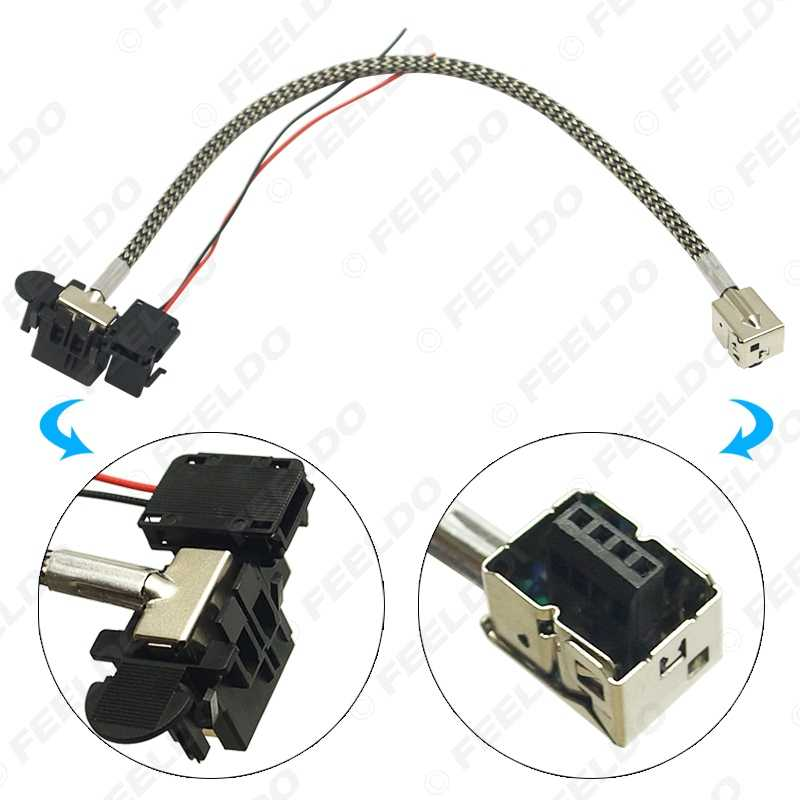 FEELDO 2Pcs Power Cord Wire Harness For a Factory Original D1S OEM on