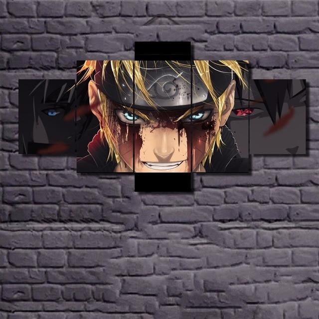 5 Pieces Naruto Wall Art Paintings