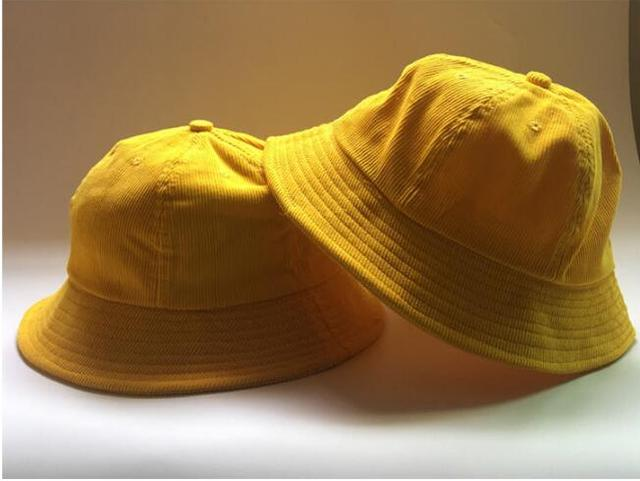 1e2d884550589 2017 Fashion Striped Spring Autumn Student Yellow Bucket Hat For Girl Women  Summer Sun Visor Beach