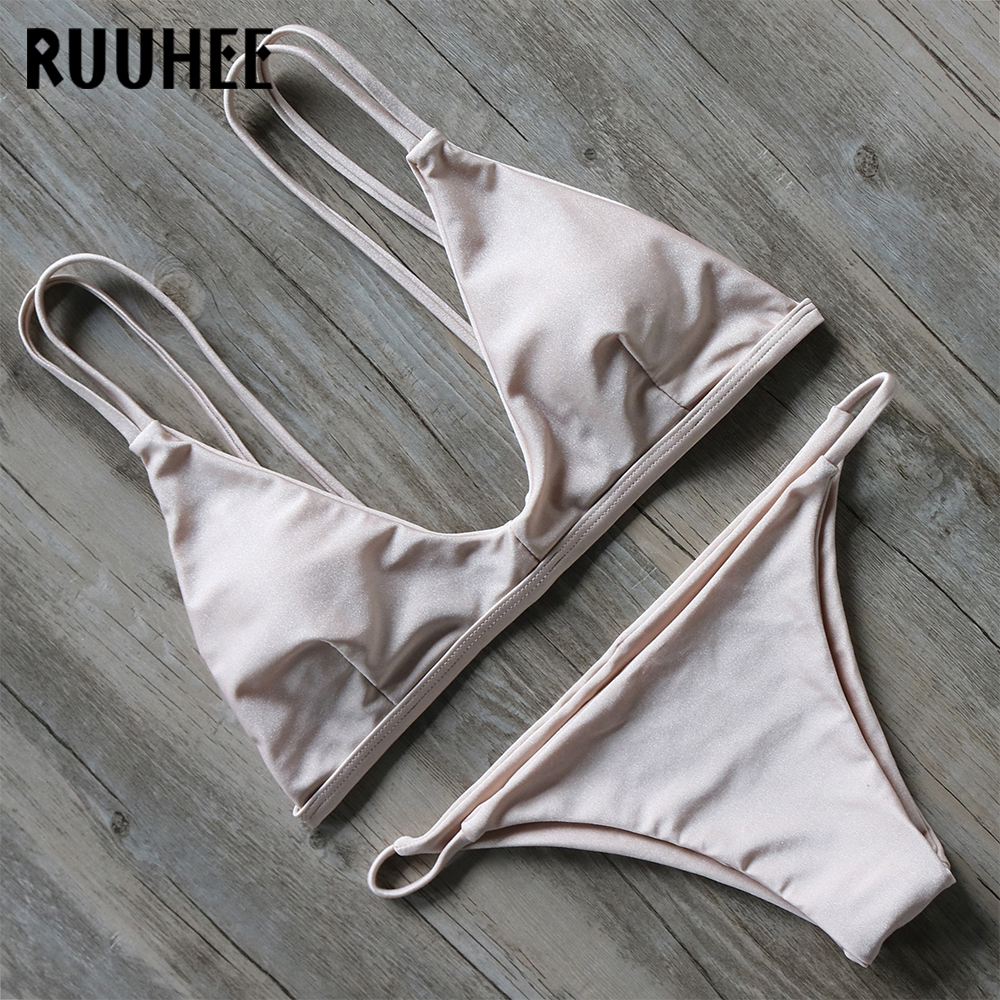 Newest Bikini Swimwear Swimsuit Bathing Suit Women Biquini Push Up 2017 Bikini Set Solid Beachwear Maillot De Bain Femme 2017 ruffle one piece swimsuit push up swimwear women sexy monokini solid bathing suit high cut beachwear maillot de bain femme