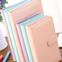 A5 A6 PU Leather Cute Notebook Spiral Time Planner Book Diary Filofax Planner Agenda Organizer