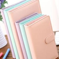 A5 A6 PU Leather Cute Notebook Spiral Time Planner Book Diary Filofax Planner Agenda Organizer