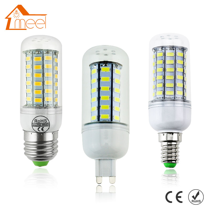 LED Lamp E27 E14 G9 SMD 5730 110V LED Bulb 220V 24 36 48 56 69leds Lampada LED Corn Light Chandelier Candle Ampoule Bombillas led bulbs light lamps e27 e14 5730 220v 24 36 48 56 69leds led corn led bulb christmas lampada led chandelier candle lighting