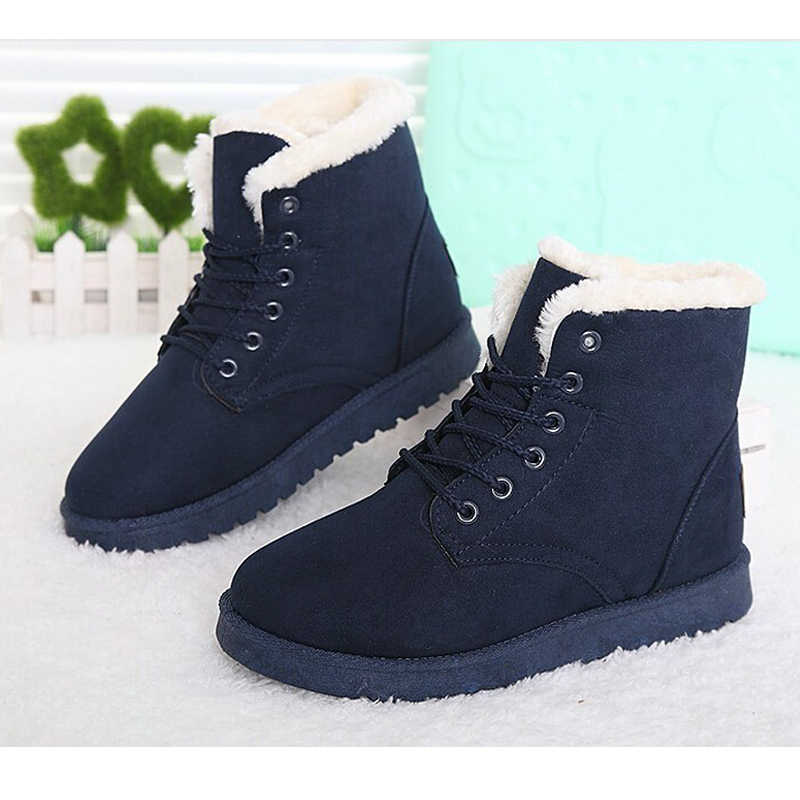 5521a0dba2cd ... LAKESHI Women Boot 2018 Fashion Women Snow Boot Botas Mujer Shoes Women  Winter Boots Warm Fur ...