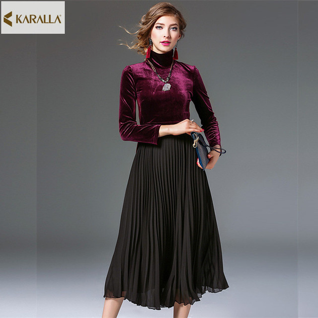 2017 Women Spring Summer Runway Fashion Short Sleeved Dress Charm Retro Elegance Poised Pretty Designer One