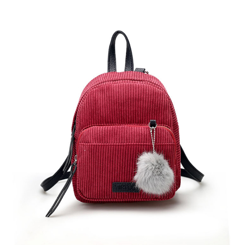 Women's Bags Xiniu Backpack Bags 2019 Women Simple Literature College Solid Color Corduroy Backpack Student Backpack Bolso Mujer Luggage & Bags