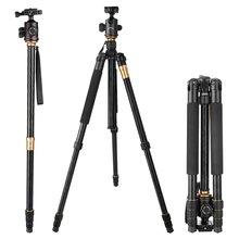Big discount EACHSHOT Q999 Photographic Portable Tripod To Monopod+Ball Head For Digital SLR DSLR Camera Fold 43cm Max Loading 15Kg