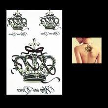 1 PC Fashion Crown Flower Arm Sleeve Waterproof Temporary Tattoo HB031 For Women Man Body Art Painting Tattoo Sticker Decoration