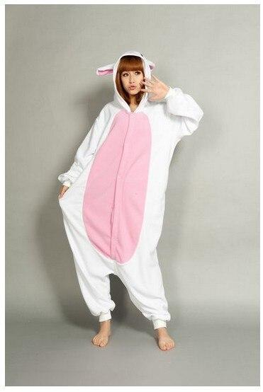 e4b39f8f61d2d Nouveau Animal Adulte Polaire femme Blanc Lapin Pyjama Pyjama Pyjama  vêtements de nuit Sous Vêtements Onesie dans de sur AliExpress.com