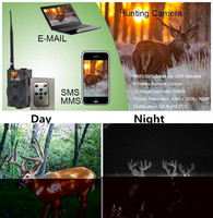 12MP MMS EMAIL SMS GPRS 2G Wireless Hunting Trail Camera HC 300M Photo Trap Night Vision