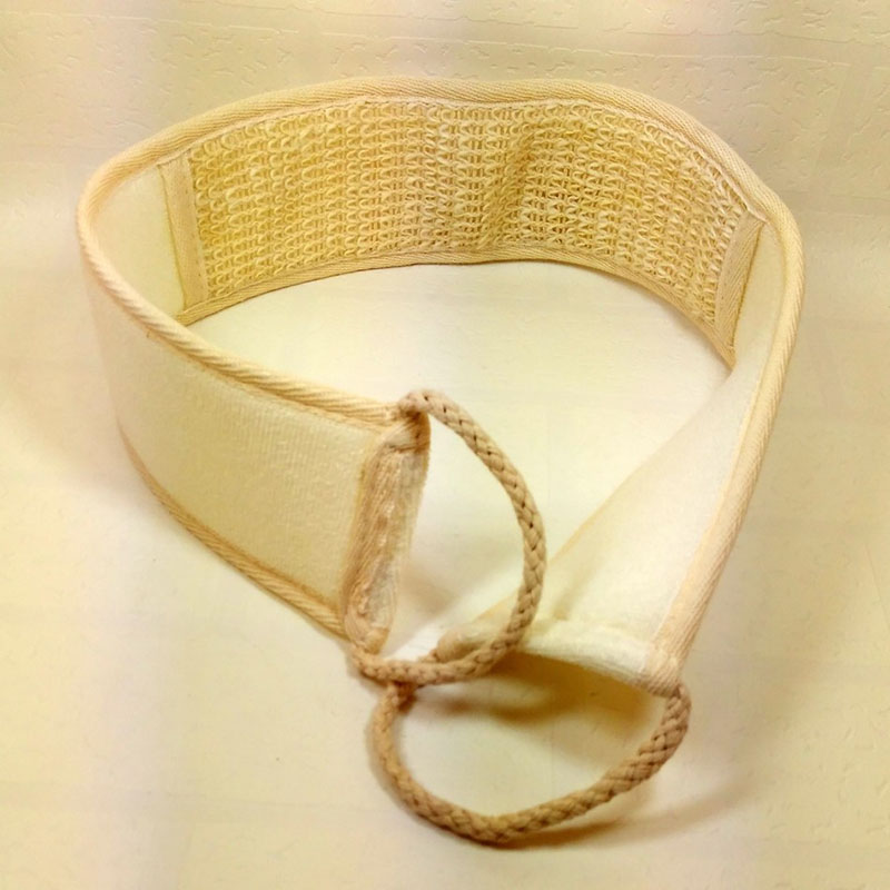 Flax Cotton Soft Exfoliating Back Strap Bath Brush Shower Massage Spa Scrubber Sponge Body Skin Health Cleaning  Sale HJ
