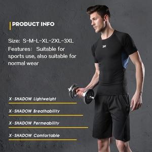 Image 4 - 5 Pz/set Tuta da Uomo Palestra di Fitness di Compressione di Vestiti del Vestito di Sport Corsa E Jogging Da Jogging vestito di Sport di Usura Esercizio di Allenamento Calzamaglie
