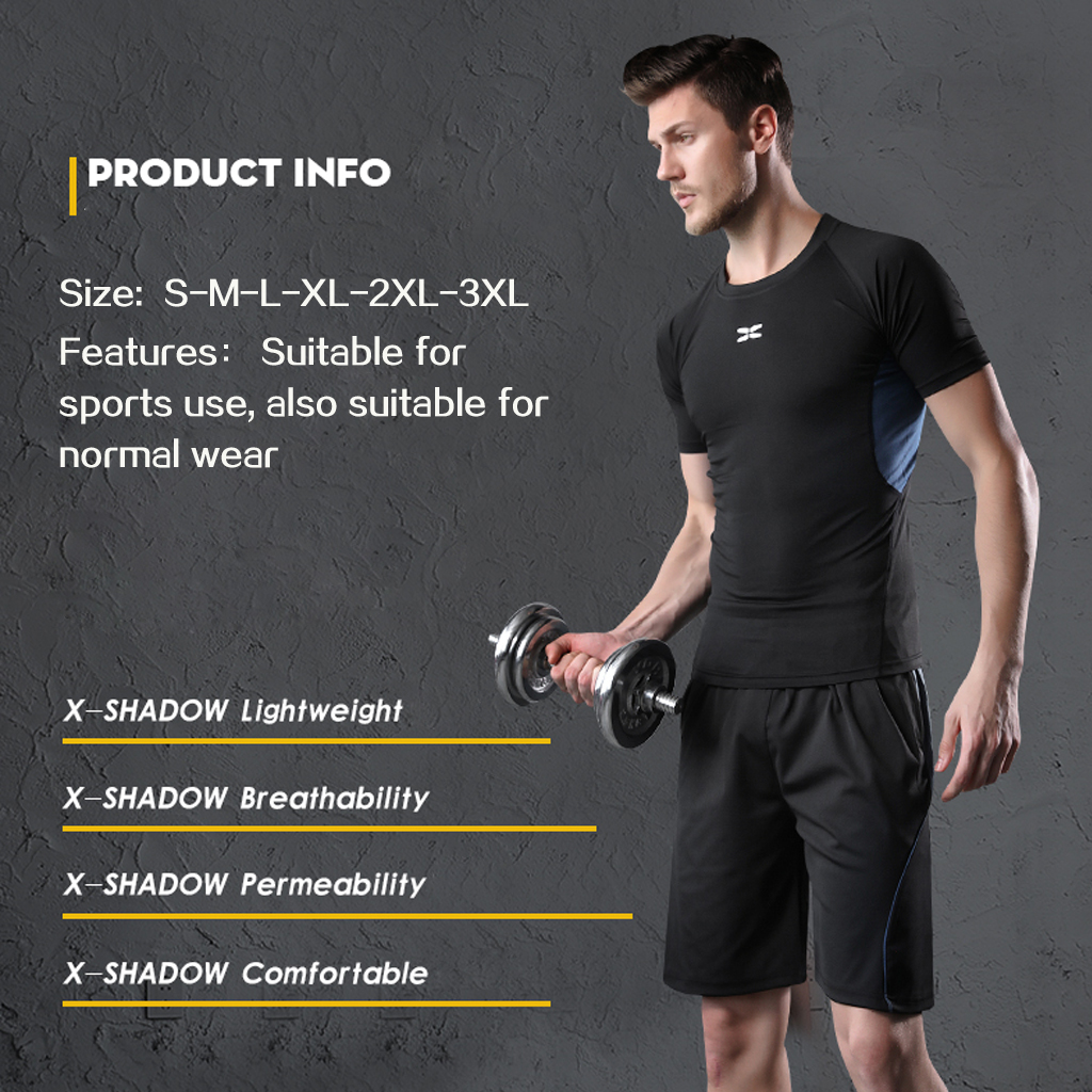 Image 4 - REXCHI 5 Pcs/Set Men's Tracksuit Gym Fitness Compression Sports Suit Clothes Running Jogging Sport Wear Exercise Workout Tights-in Running Sets from Sports & Entertainment