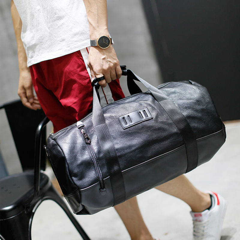 New Men Travel Bags Multifunction Men High quality PU Leather Travel Bag Big Capacity Shoulder Handbag Tote Bag For Business Man temena large capacity outdoor sports bag for men new brand pu tote duffel bag multifunction travel sports gym fitness bag ac12