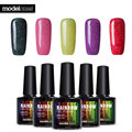 Modelones 5pcs/lot Neon Vernis Semi Permanent 10Ml Rainbow Uv Nail Gel Polish Long Lasting Led Nail Polish Lacquer Need Uv Gel