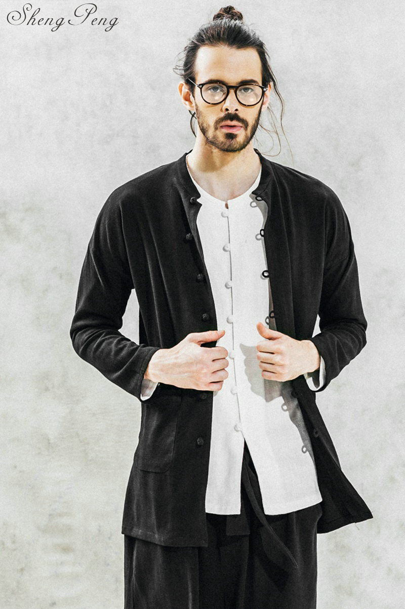 Chinês tradicional roupa de manga comprida homens roupa tradicional chinesa shanghai tang tradicional chinesa vestuário CC225 - 6