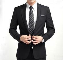 2017 men's suits Business 2 piece cultivate one's morality fashion wedding best man suit