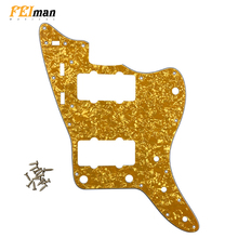 Pleroo Guitar accessories pickguards suit for fender US Jazzmaster guitar 13 holes Scratch Plate best quality for Replacement