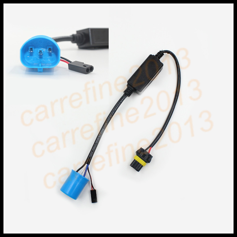 2 pcs 9004 9007 xenon hid conversion kit relay Harness Controller for 9007 Car Headlight 9004 hid bixenon projector lens h7 xenon hid conversion kit relay wiring harness kit black