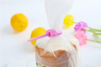10pcs/lot Food grade Silicone Bag Ties Cable Management Zip Tie Twist All-purpose Multi-use Bag Clip Bread Tie Food Saver